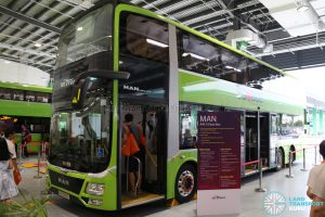 Ulu Pandan Bus Depot Carnival Static Bus Display - SBS Transit MAN A95 3-Door Bus (SG5999Z)