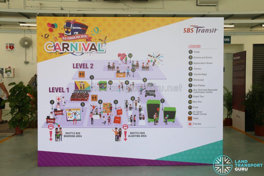 Ulu Pandan Bus Depot Carnival - Floor Plan