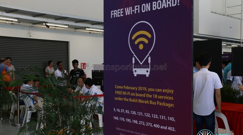 Free Wi-Fi on board Bukit Merah Bus Package Services from February 2019