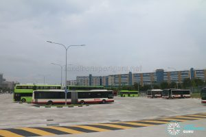 Ulu Pandan Bus Depot - SMRT Buses Parking Area