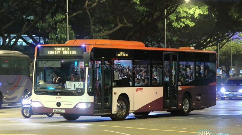 Shuttle 3 - SMRT Buses Mercedes-Benz Citaro (SG1222H)