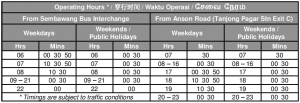 Express 167e departure timings (till 8 Feb 2020)