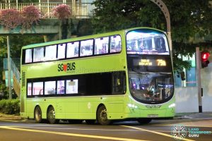 Service 79A - Tower Transit Volvo B9TL Wright (SBS3384Z)