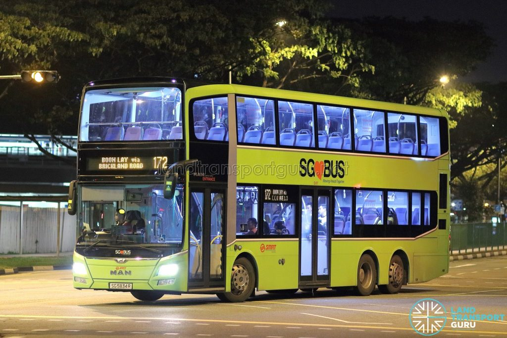 Service 172 - SMRT Buses MAN A95 (SG5834R)