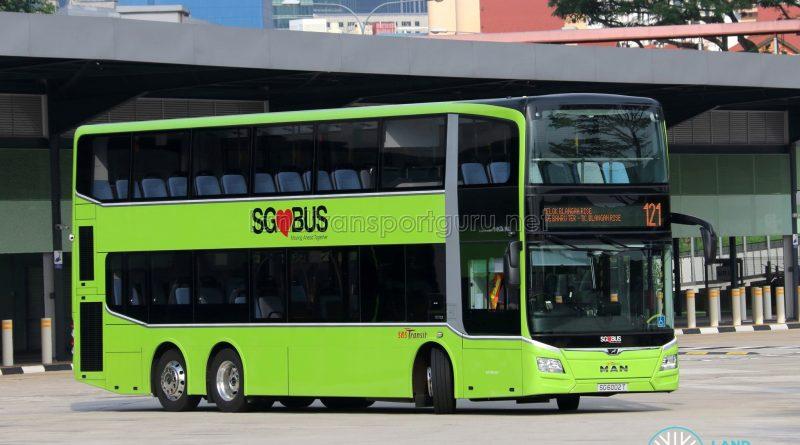 Service 121 - SBS Transit MAN A95 Euro 6 (SG6002T)