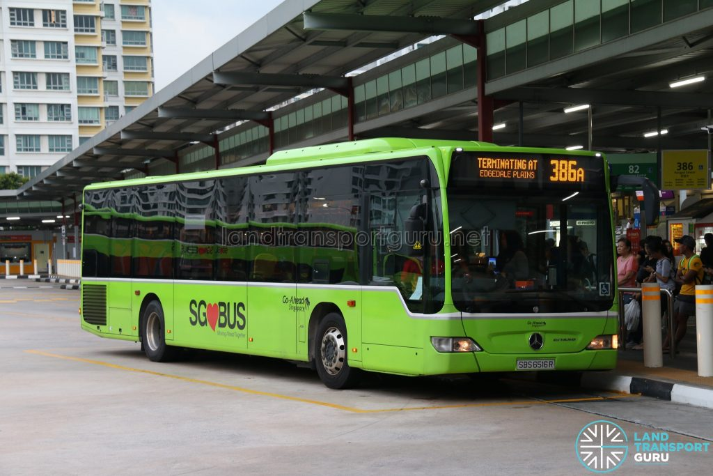 Bus 386A: Go-Ahead Mercedes-Benz Citaro (SBS6516R)