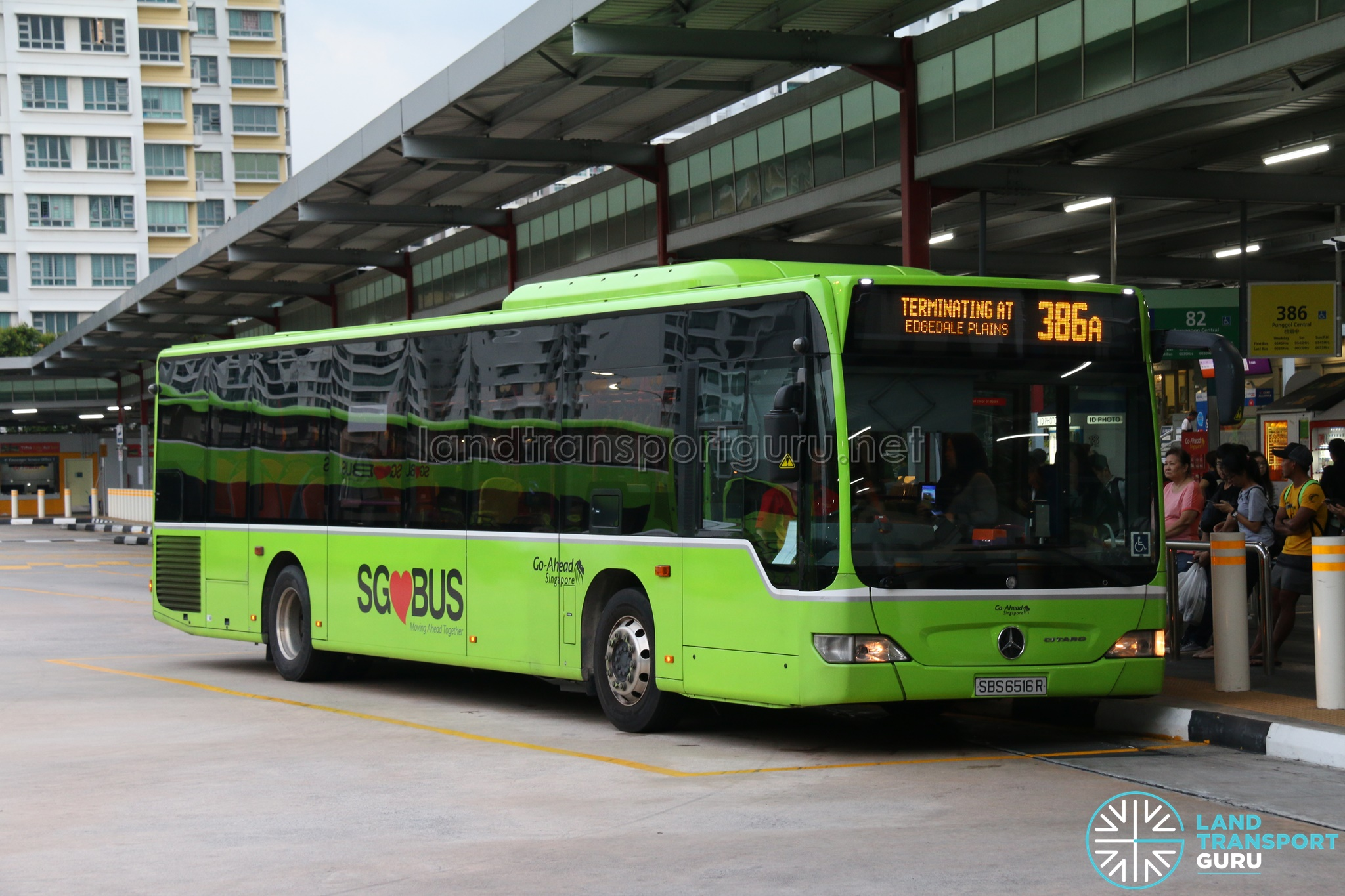 Bus 386A: Go-Ahead Mercedes-Benz Citaro (SBS6516R)