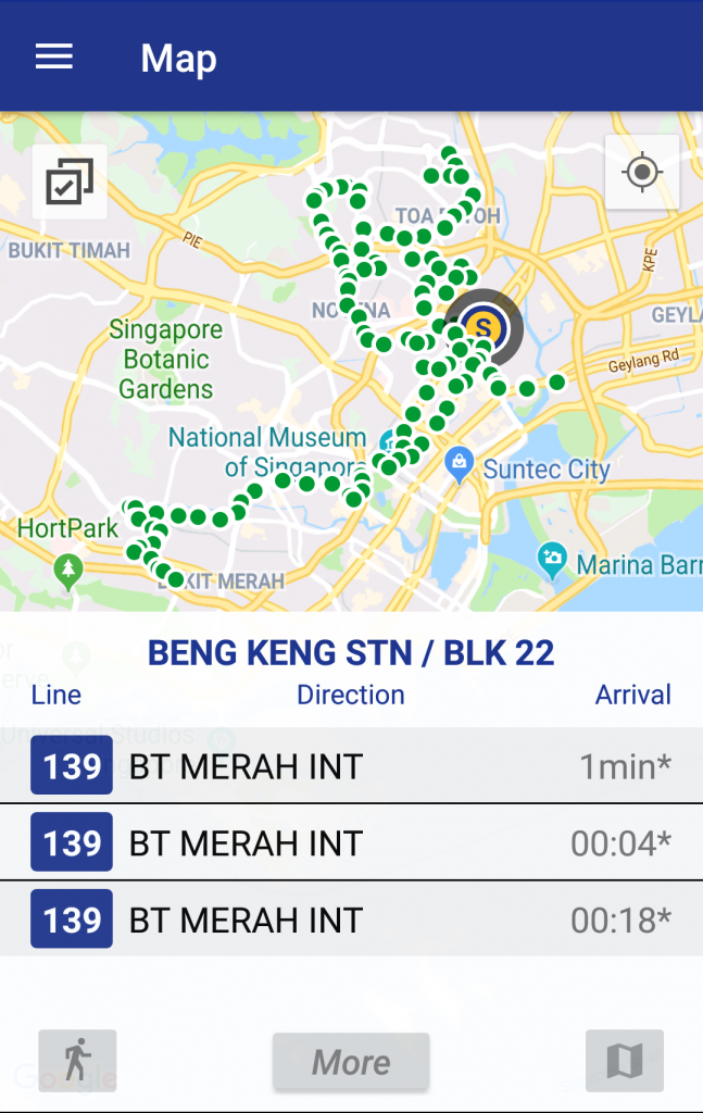 MAVIS App - Arrival Timings for Boon Keng Stn / Blk 22