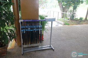 Shared umbrella - HarbourFront Interchange