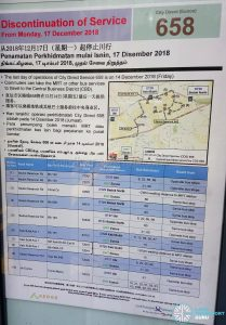 Discontinuation of City Direct Bus Service 658 Poster