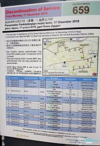 Discontinuation of City Direct Bus Service 659 Poster
