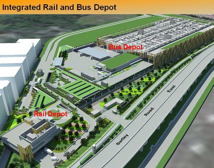 Kim Chuan Depot - Bus & Rail Depot (Photo: LTA)