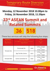 Go-Ahead Singapore Diversion Poster for 33rd ASEAN Summit and Related Summits
