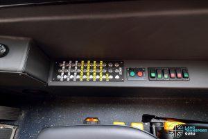 Sentosa Volvo B8RLE - Driver side controls