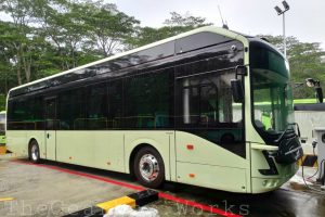 Volvo 7900 Electric in Singapore. Photo: Syabiel Ahamed