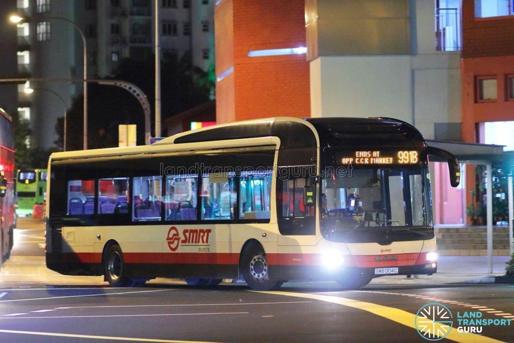 Service 991B - SMRT Buses MAN A22 (SMB1304C)