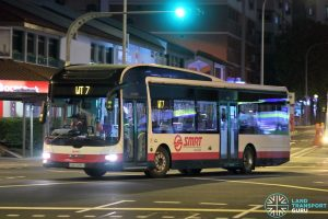Workers Transport 7 - SMRT Buses MAN A22 (SMB1328J)