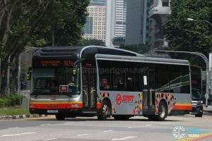Express Bus 167e - SMRT MAN A22 (SG1710R)