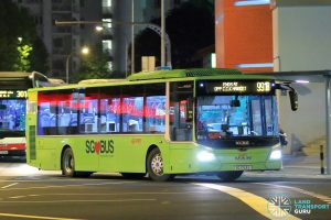 Service 991B - SMRT Buses MAN A22 Euro 6 (SG1753S)