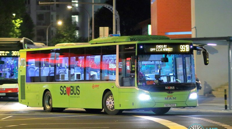 Service 991B - SMRT Buses MAN A22 Euro 6 (SG1753S)