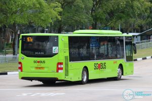 SMRT MAN Lion's City A22 Euro 6 (SG1807X) - Rear EDS