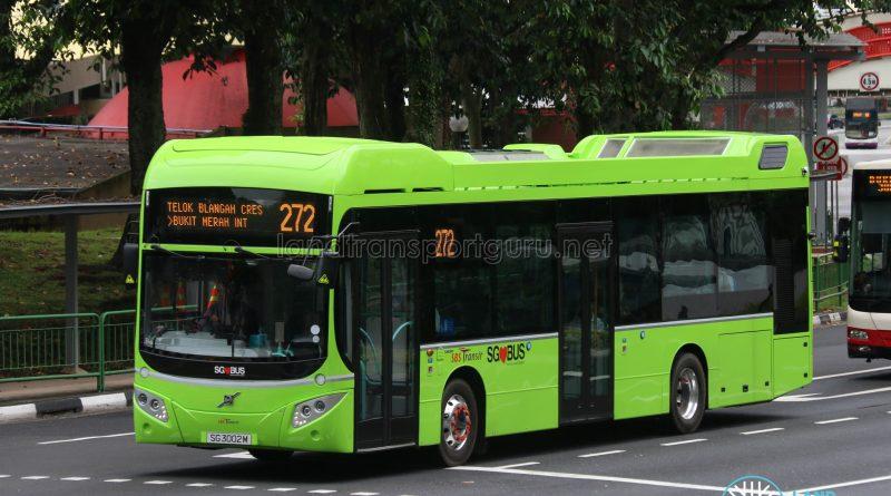 Bus Service 272 - SBS Transit Volvo B5LH (SG3002M)
