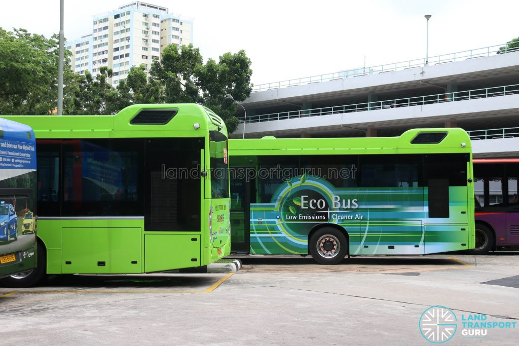 Volvo B5LH - Side with Eco Bus Advert Wrap