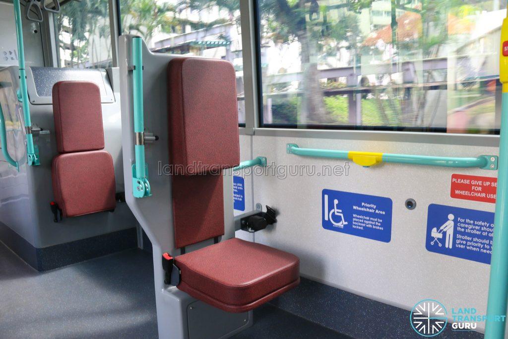 Volvo B5LH - Interior Wheelchair Bay