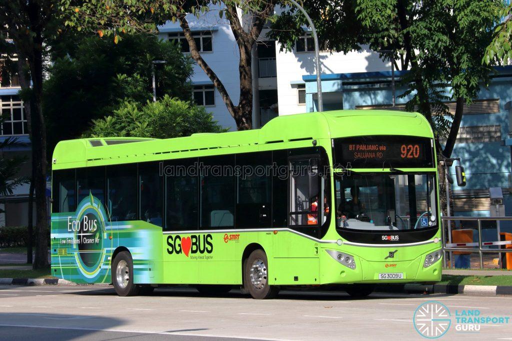 Bus 920 - SMRT Buses Volvo B5LH (SG3009U)