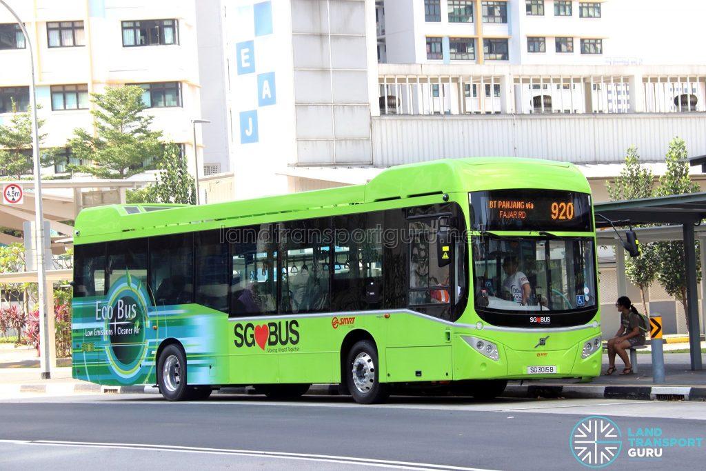 Bus 920 - SMRT Buses Volvo B5LH (SG3015B)