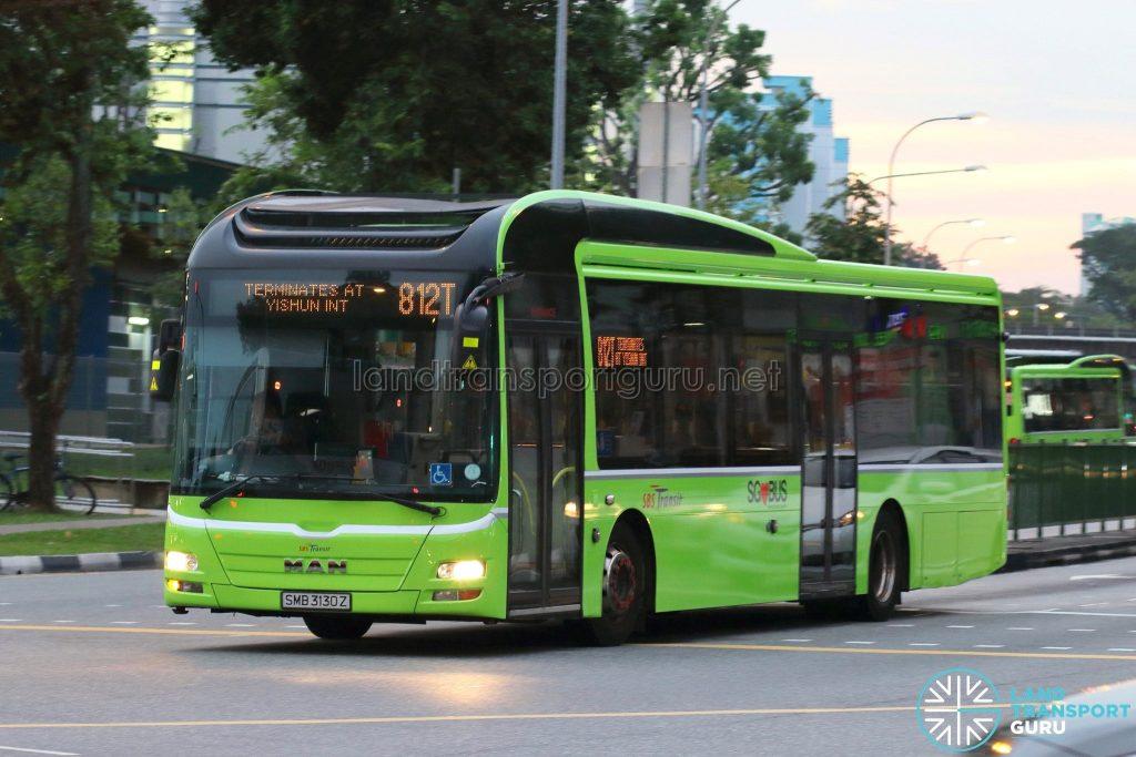 Bus 812T - SBS Transit MAN A22 (SMB3130Z)