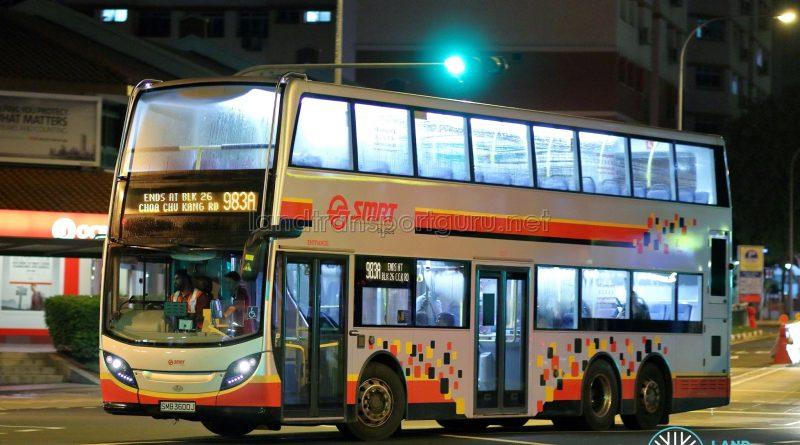 Service 983A - SMRT Buses Alexander Dennis Enviro500 (SMB3600J)