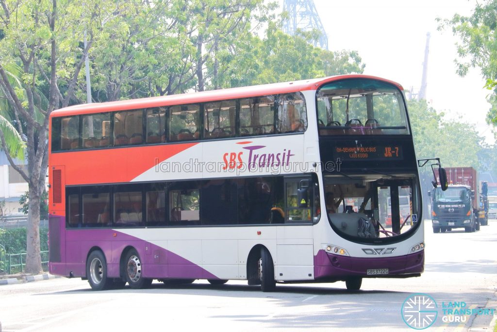 On-Demand Public Bus (Joo Koon) JK-7 - SBS Transit Volvo B9TL Wright (SBS3722G)
