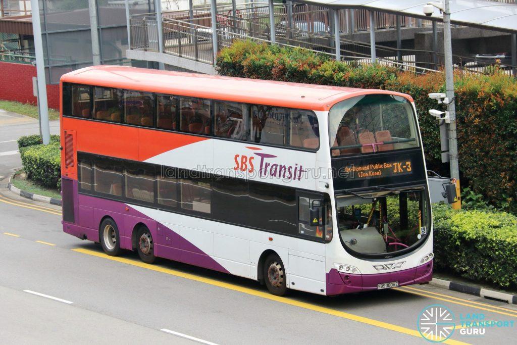 On-Demand Public Bus (Joo Koon) JK-3 - SBS Transit Volvo B9TL Wright (SBS3806Z)
