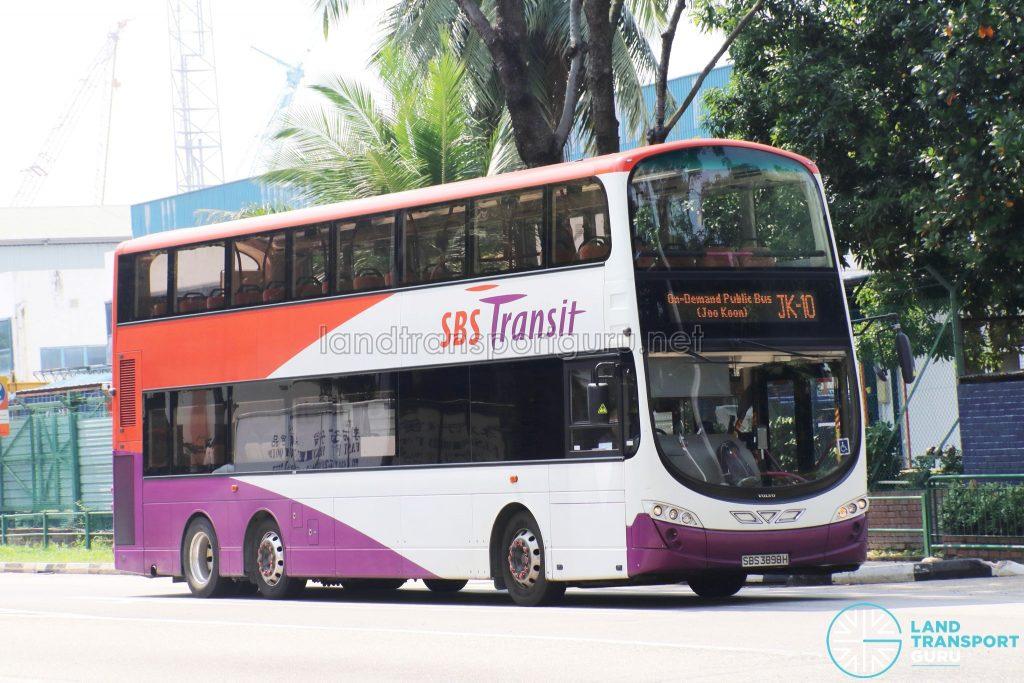 On-Demand Public Bus (Joo Koon) JK-10 - SBS Transit Volvo B9TL Wright (SBS3898H)