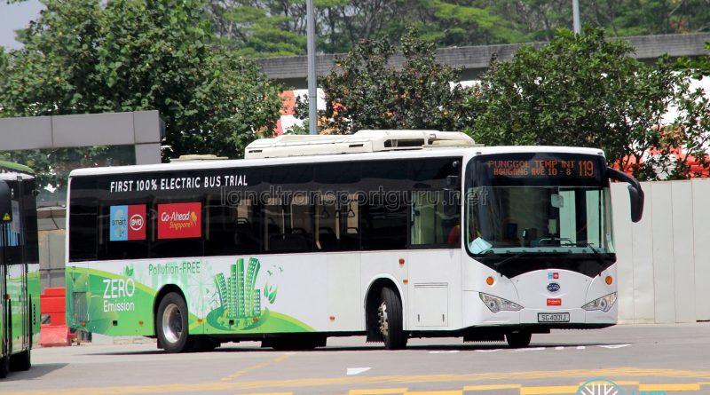 Bus 119 - Go-Ahead BYD K9 (SG4001J)