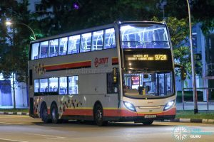 Service 972A - SMRT Buses Alexander Dennis Enviro500 (SMB5011X)