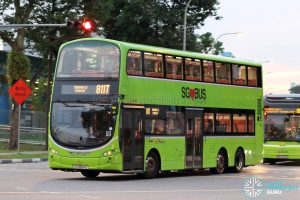 Bus 811T - SBS Transit Volvo B9TL Wright (SG5044D)