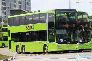 Bus Service 85: Go-Ahead MAN Lion's City DD A95 (SG5904Y)