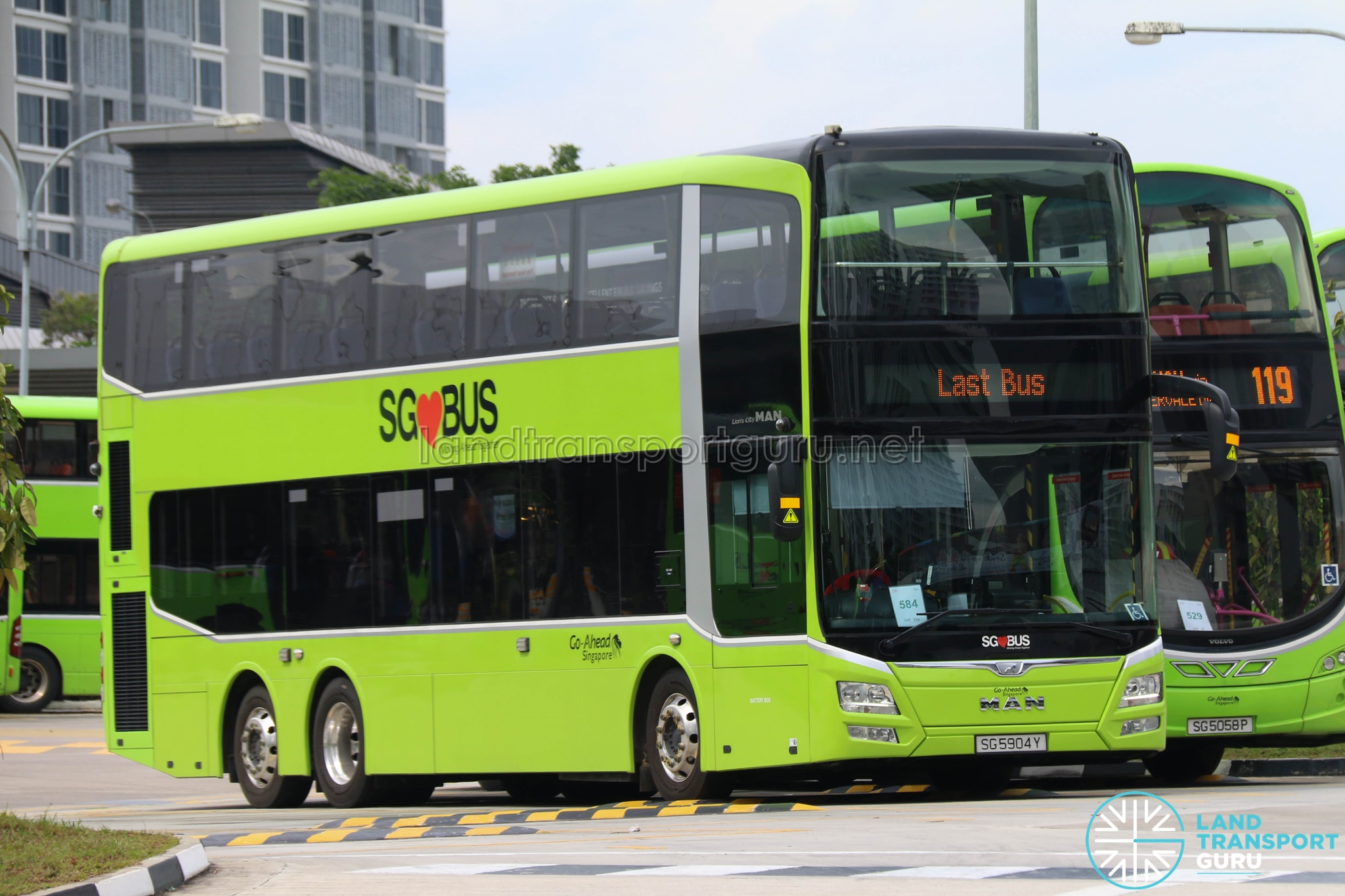 Go-Ahead MAN Lion's City DD A95 (SG5904Y) - Last Bus