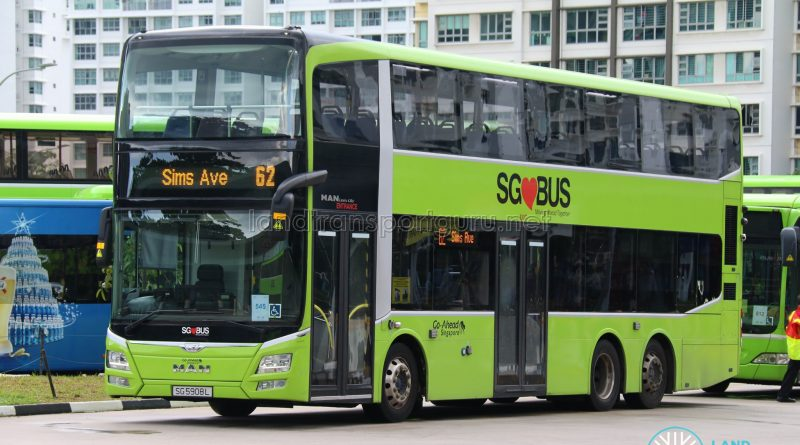 Bus Service 62: Go-Ahead MAN Lion's City DD A95 (SG5908L)