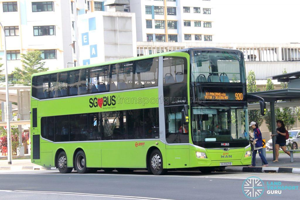 Bus 920 - SMRT Buses MAN A95 Euro 6 (SG5929B)