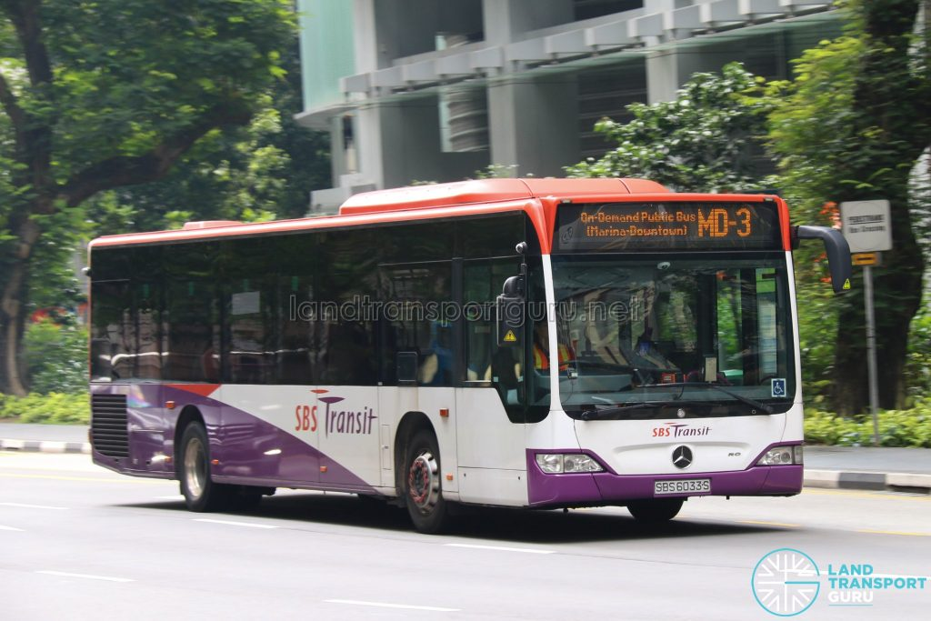 On-Demand Public Bus (Marina-Downtown) MD-3 - SBS Transit Mercedes-Benz Citaro (SBS6033S)
