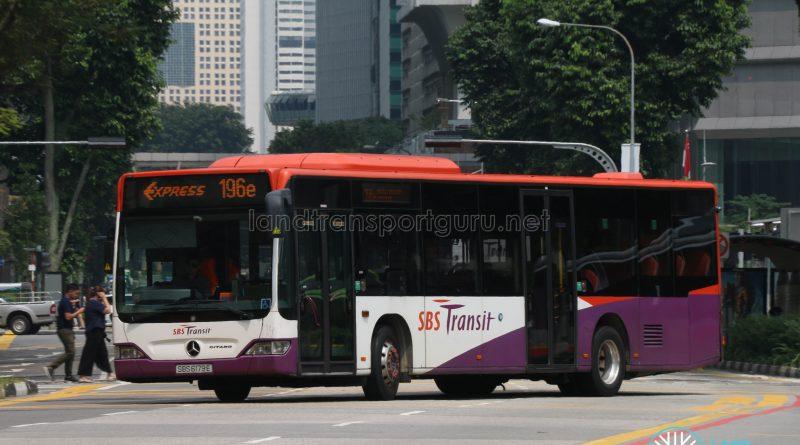 Express Bus 196e - SBS Transit Mercedes-Benz Citaro (SBS6179E)
