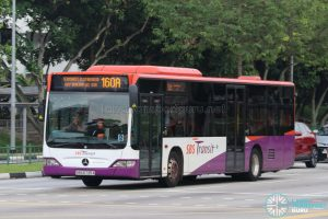 Bus 160A - SBS Transit Mercedes-Benz Citaro (SBS6735A)