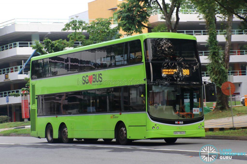 Bus 198 - SBS Transit Volvo B9TL CDGE (SBS7363H)