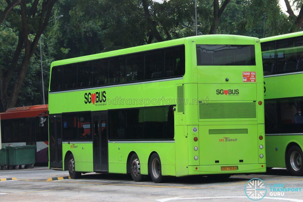 Lush Green SBS Transit Volvo B9TL CDGE (SBS7363H)