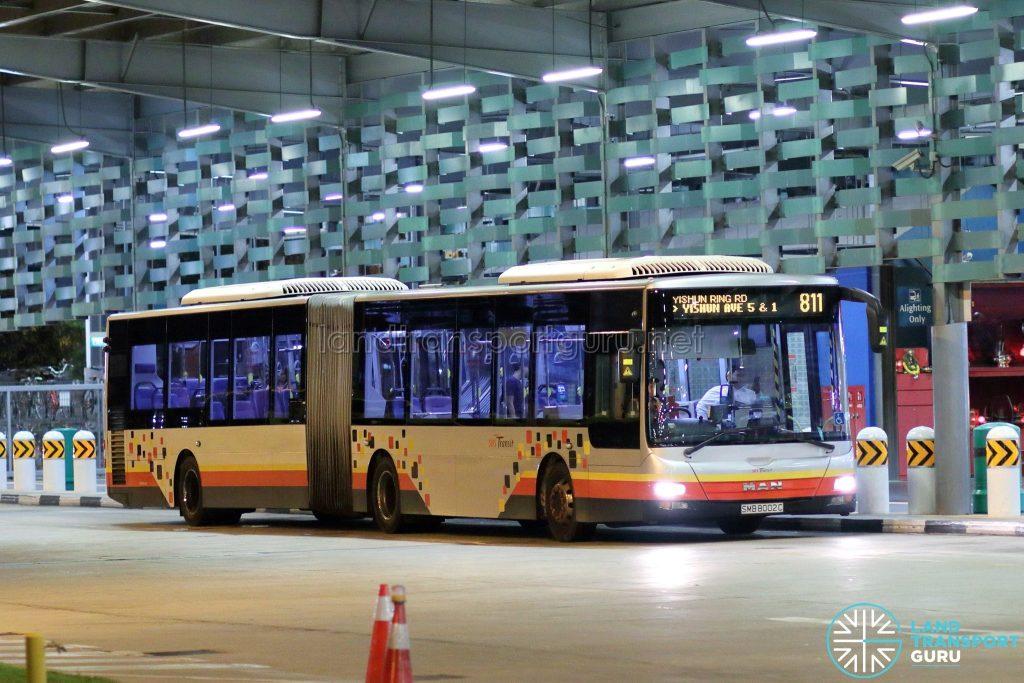 Bus 811- SBS Transit MAN A24 (SMB8002C)