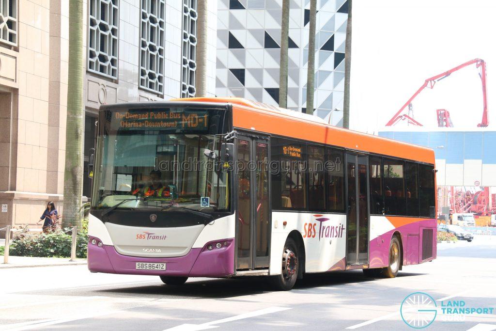 On-Demand Public Bus (Marina-Downtown) MD-1 - SBS Transit Scania K230UB Euro V (SBS8641Z)