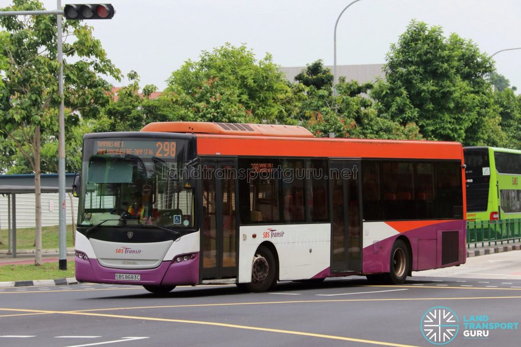 Bus 298 - SBS Transit Scania K230UB Euro V (SBS8683C)